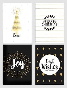 Colección de tarjetas de felicitación navideñas