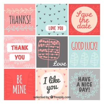 Colección tarjetas de felicitación