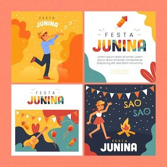 Colección de tarjetas festa junina