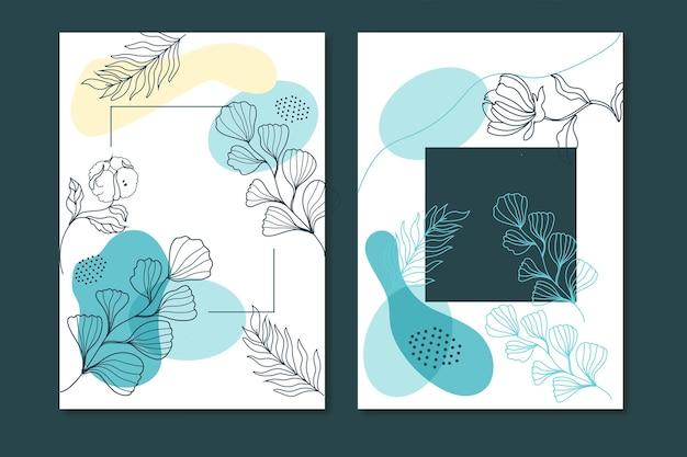 Colección tarjetas florales dibujadas a mano