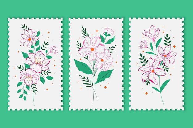 Colección de tarjetas florales