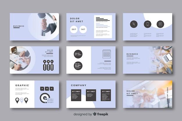 Colección de tarjetas para ideas de negocios