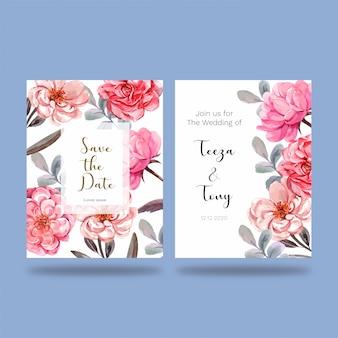 Colección de tarjetas de invitación de boda