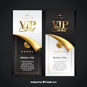Colección de tarjetas de miembro vip