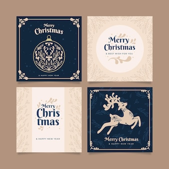 Colección de tarjetas de navidad ornamentales