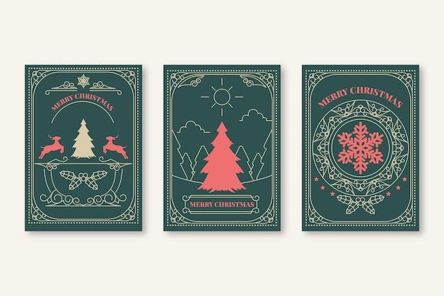 Colección de tarjetas navideñas vintage