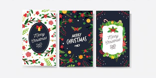 Colección de tarjetas navideñas