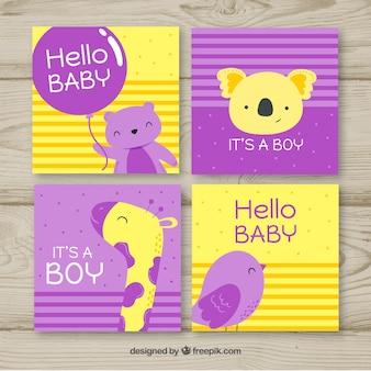 Colección de tarjetas de niño