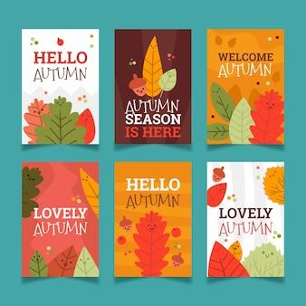 Colección de tarjetas de otoño