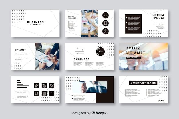 Colección de tarjetas para presentación de empresas.