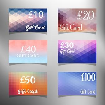 Colección de tarjetas de regalo