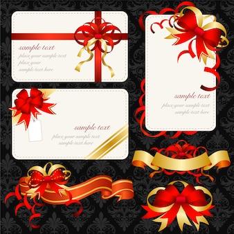 Colección de tarjetas y ribbons