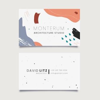 Colección de tarjetas de visita pintadas a mano