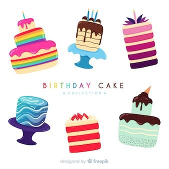 Colección de tartas de cumpleaños