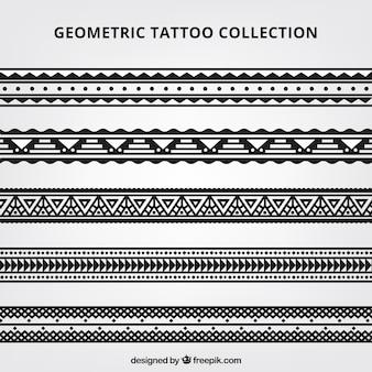 Colección de tatuajes geométricos maorís