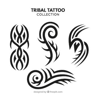 Colección de tatuajes tribales pequeños