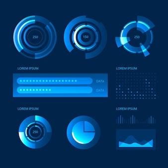 Colección tecnológica de infografías.