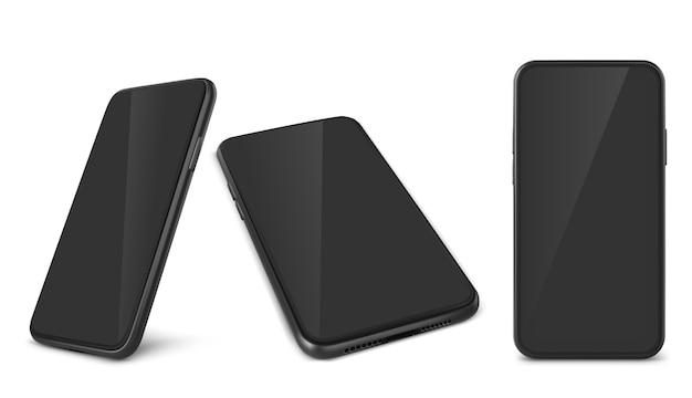 Colección de teléfonos inteligentes realistas