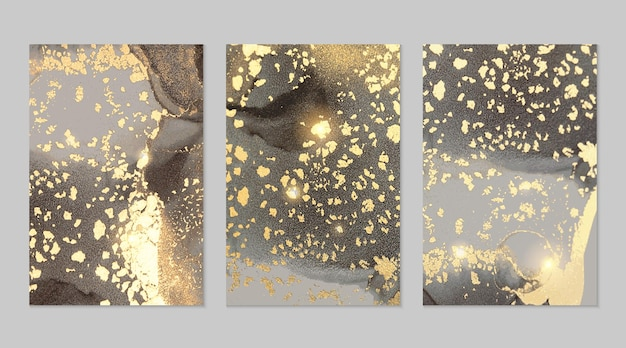Colección de texturas abstractas de mármol