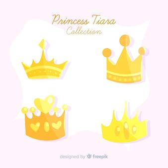 Colección tiaras de oro de princesa