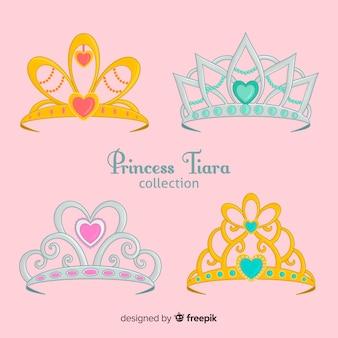 Colección tiaras princesa doradas