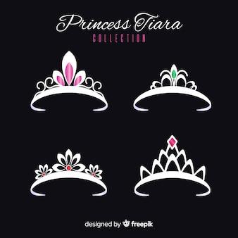 Colección tiaras princesa plateadas