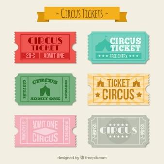 Colección de tickets de circo