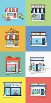 Colección de tiendas y tiendas