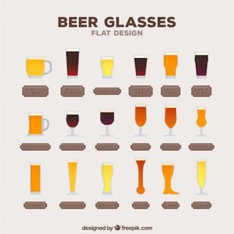Colección de tipos de cervezas