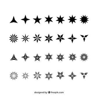 Colección de tipos de estrellas
