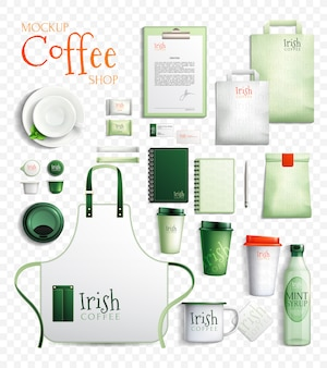 Colección transparente café irlandés