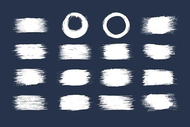 Colección de trazos de pincel de tinta blanca de velocidad