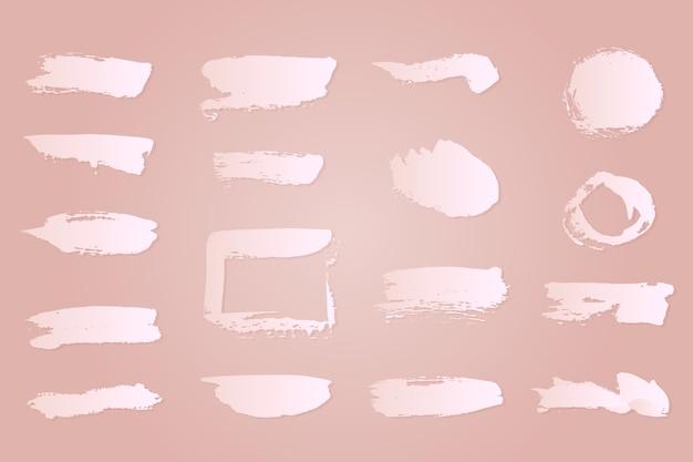 Colección de trazos de pincel de tinta blanca