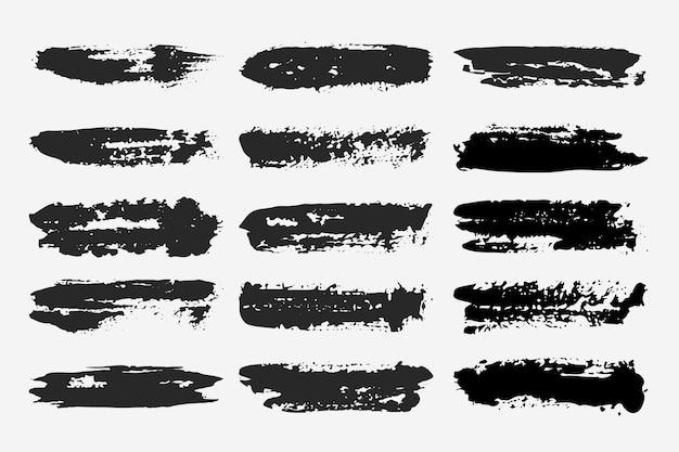 Colección de trazos de pincel de tinta