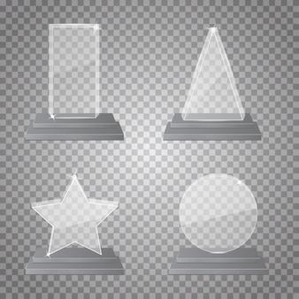 Colección de trofeos de vidrio