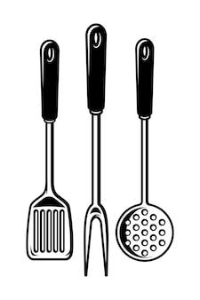 Colección de utensilios de cocina vintage