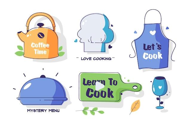 Colección de utensilios de cocina.