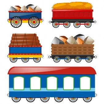 Colección de vagones a color
