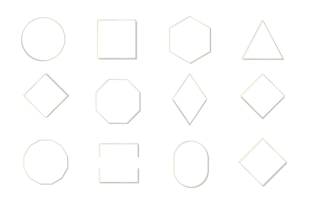 Colección de varias plantillas de marcos.