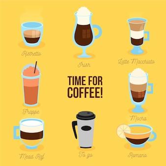 Colección de variedades de café.