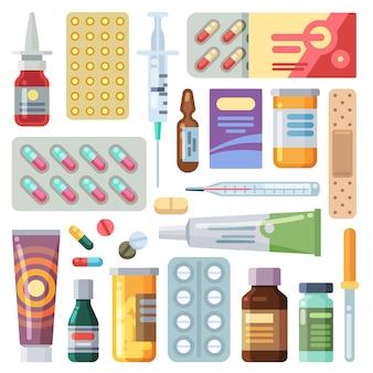 Colección de varios medicamentos