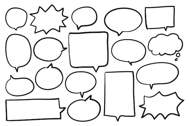 Colección de vectores de burbujas de discurso