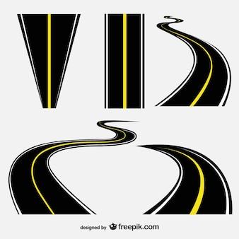 Colección de vectores de carreteras