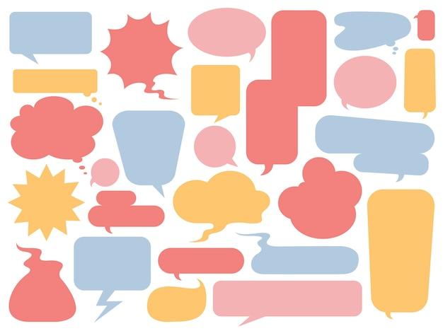 Colección de vectores coloridos burbujas de discurso