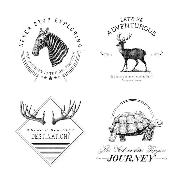 Colección de vectores de diseño de logotipo de aventura