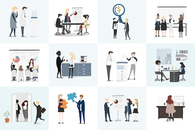 Colección de vectores de gente de negocios