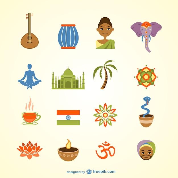 Colección de vectores de india