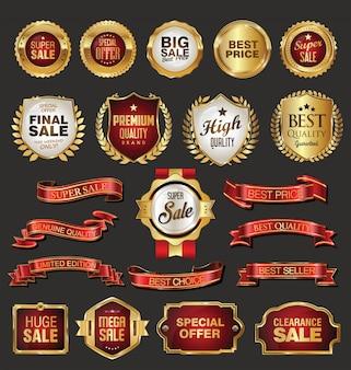Colección de vectores de insignias y etiquetas