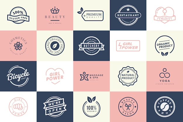 Colección de vectores de logos e insignias.