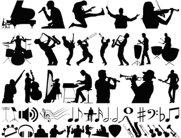 Colección de vectores de música